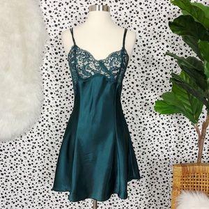 Victoria's Secret Emerald Lace Nightie Pajamas
